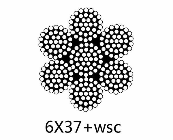DIN3066 6×37+FC,6×37+WSC or IWRC