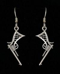 Sterling Silver Revolver Earrings