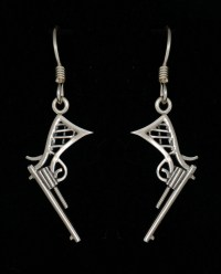 Sterling Silver Revolver Earrings