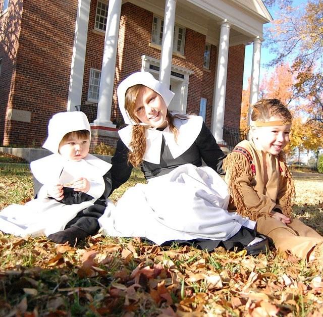 Pilgrim Costumes - Girls Indian Boy Costume