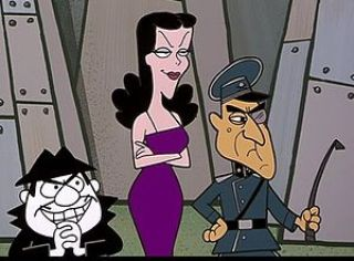 Cold War cartoons Boris Badenov, Natasha Fatale