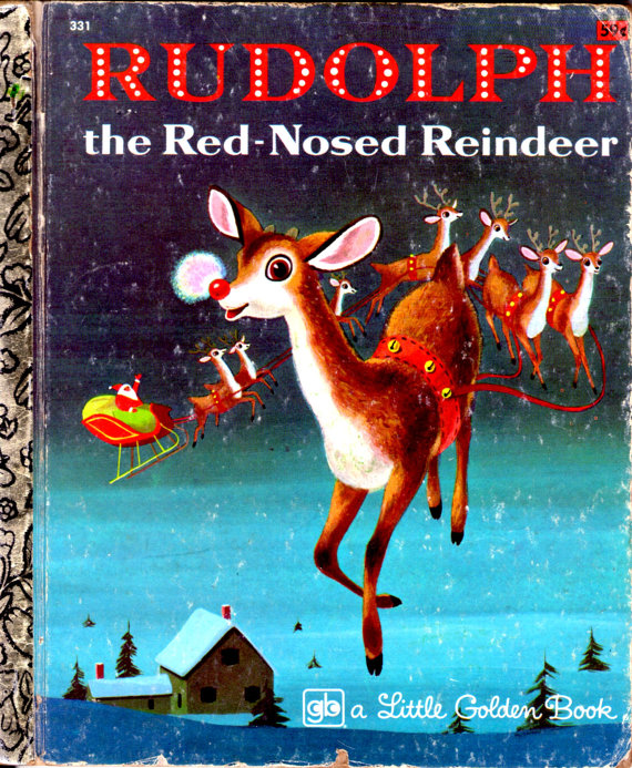 1970s rudolph the red nosed reindeer Little Golden Book