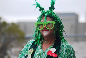 St. Patrick's Day Truffles Metallic Green Wig