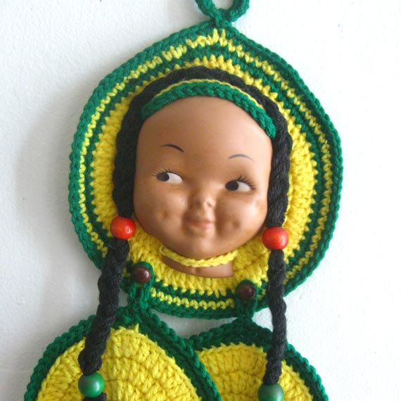 Native American Doll Face Potholders