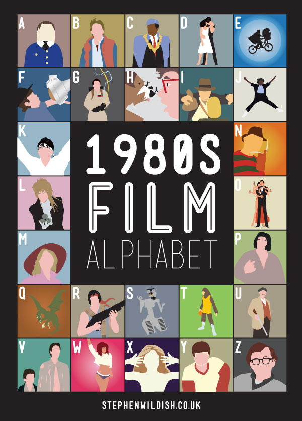 Movie and Film Alphabet Posters