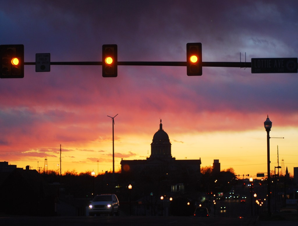 Oklahoma State Capitol at Sunset