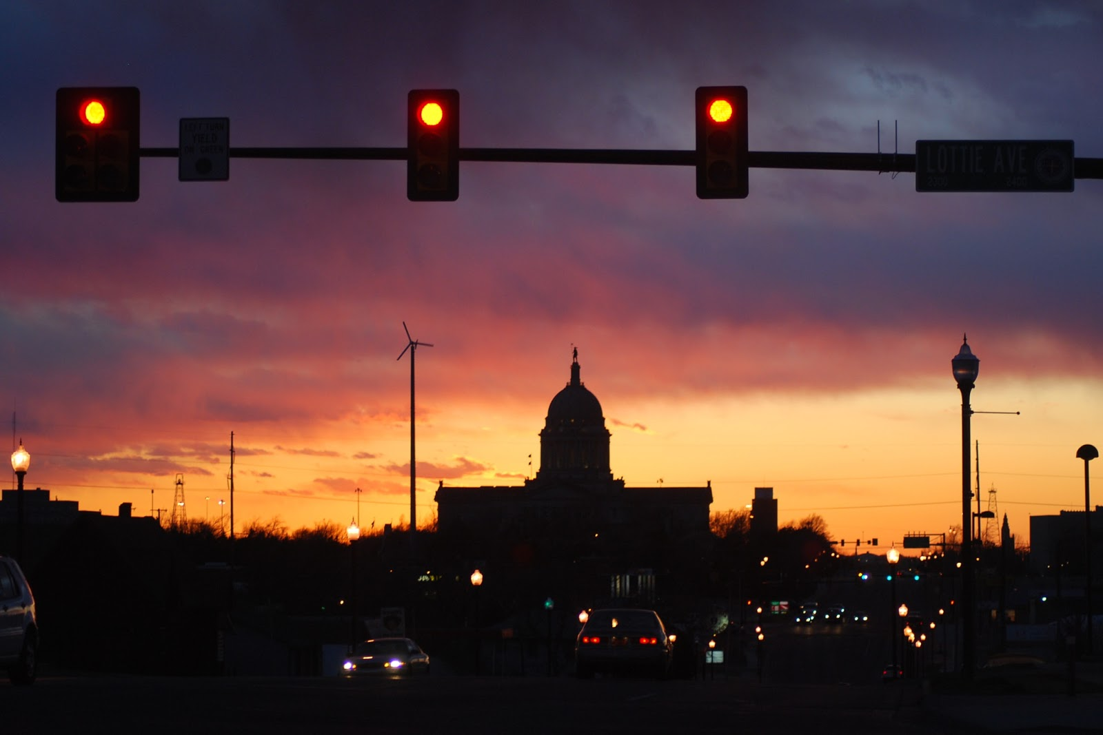 Life in the Heartland and the Oklahoma State Capitol at Sunset