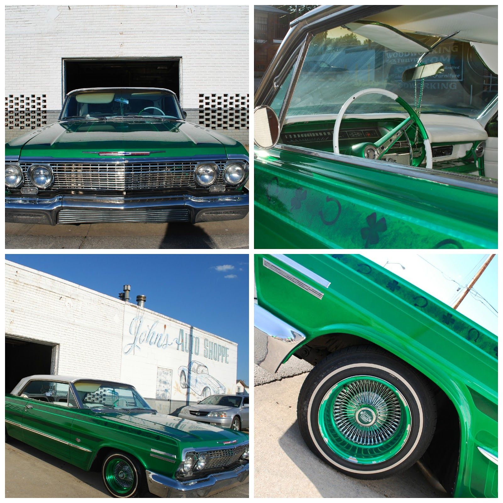 Green Low Rider with Shamrocks