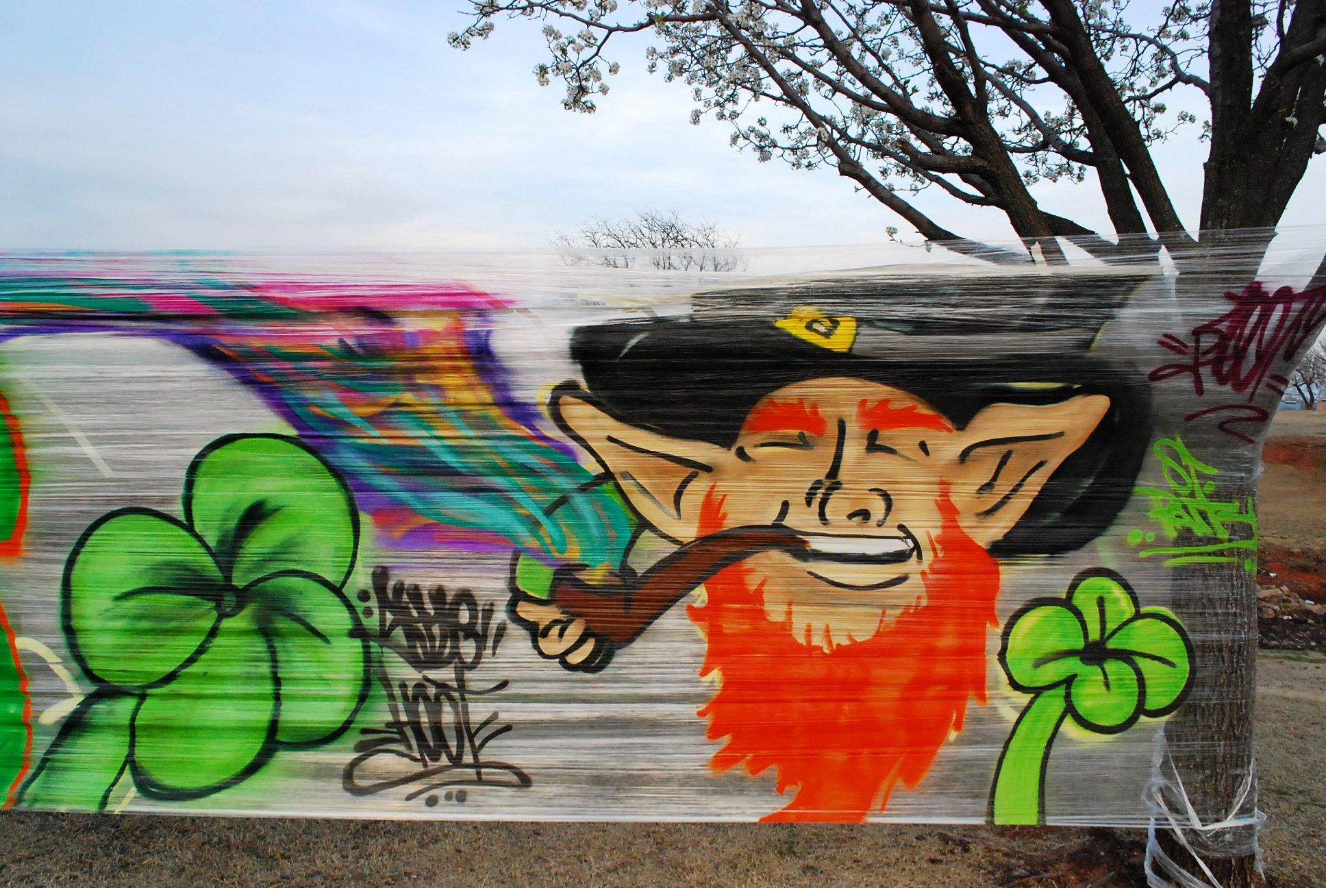 Saran Cellophane Graffiti