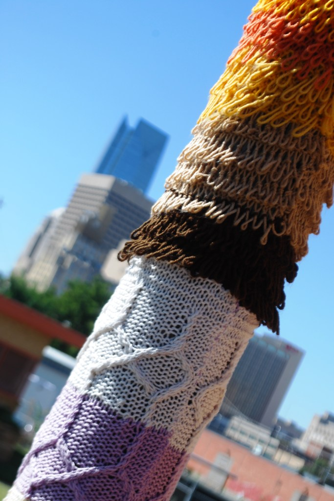 Yarn Bombing in Oklahoma City