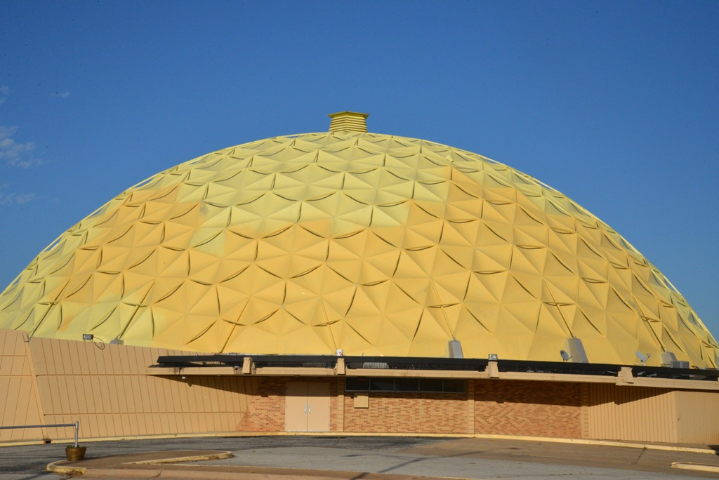 Geodesic Gold Dome Bank