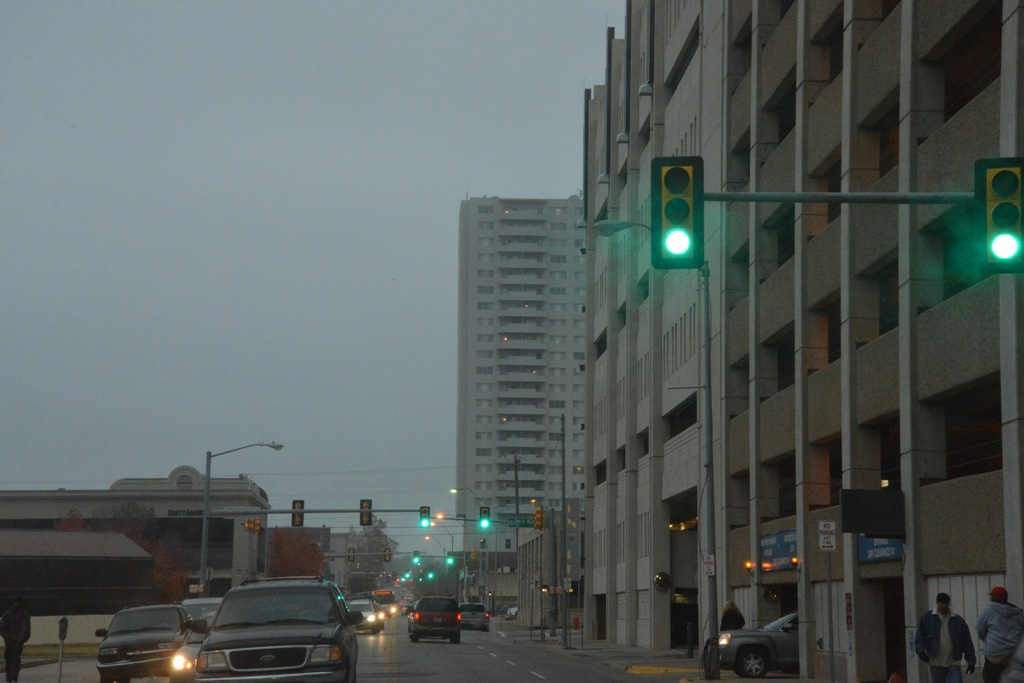 Downtown OKC | Green Stoplights