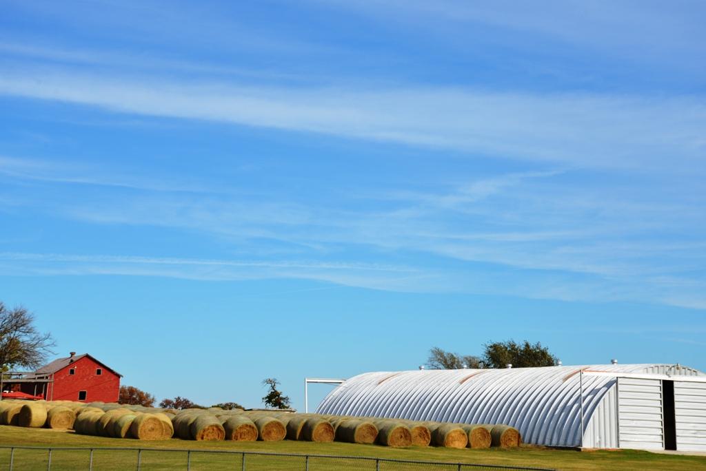 Blue Oklahoma Sky and Hay Bales