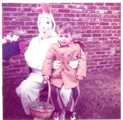 vintage easter photos bunny 1970s