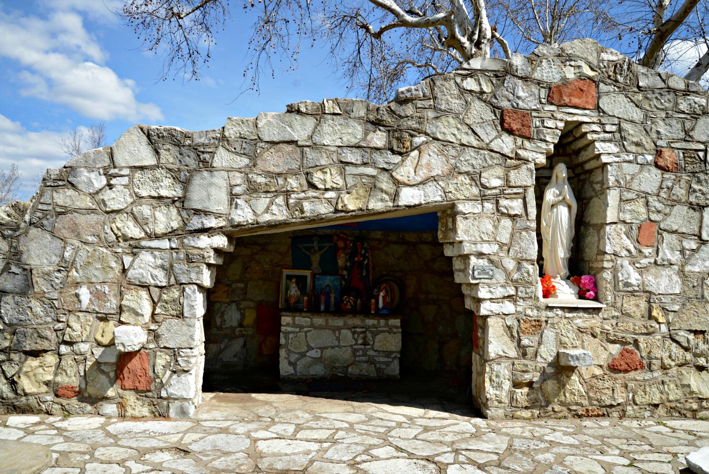 Grotto at Mount St Mary Catholic High School Oklahoma City