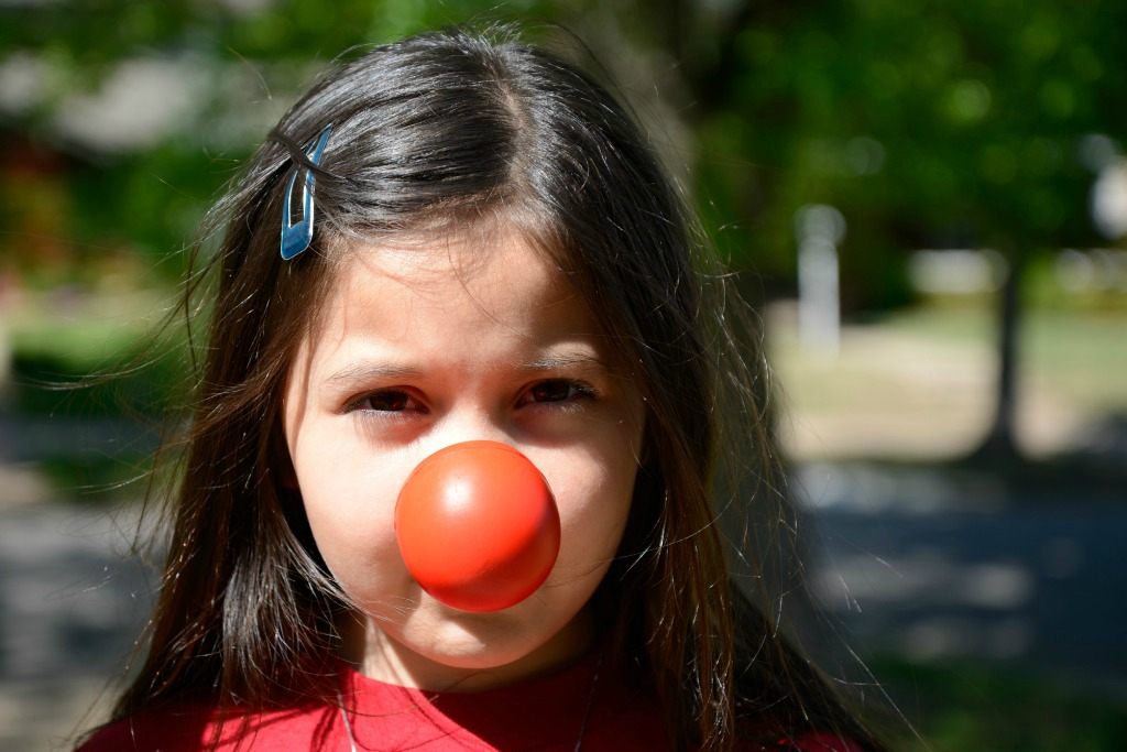Girl Red Nose Day