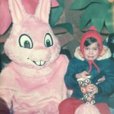 Kid Crying With Easter Bunny