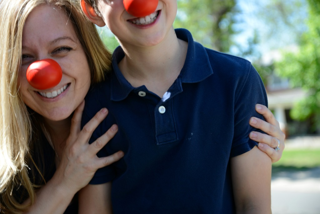 Red Nose Day Mom and Child
