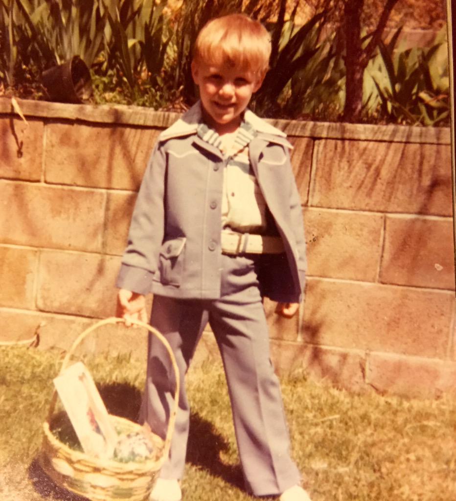 Little boy in leisure suit 1977