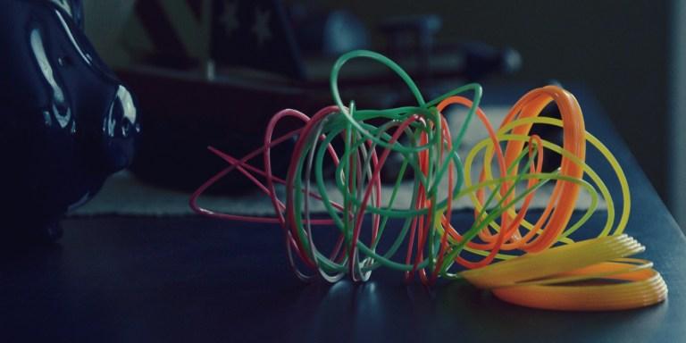 tangled rainbow slinky