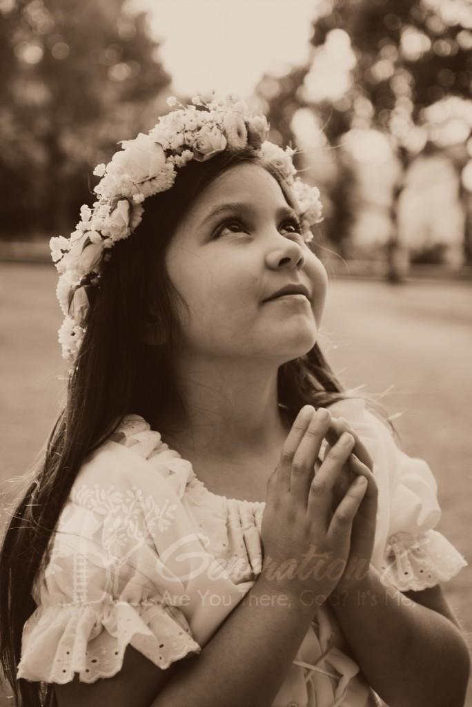 Child with Flower Wreath Hair piece