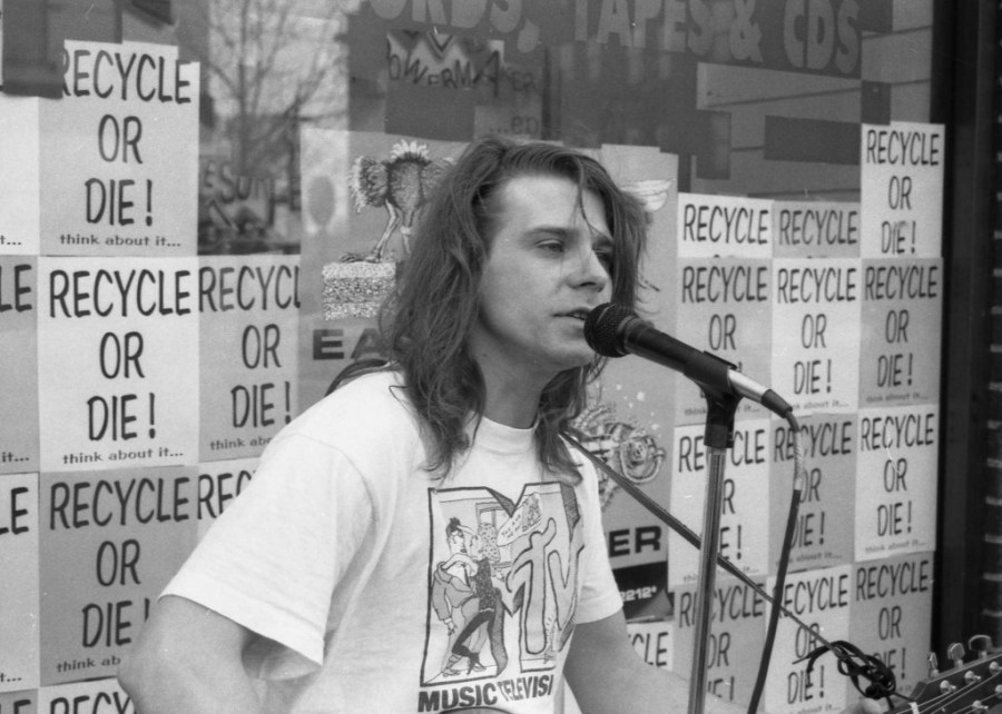 Earth Day event at a local record store Wizards in 1990