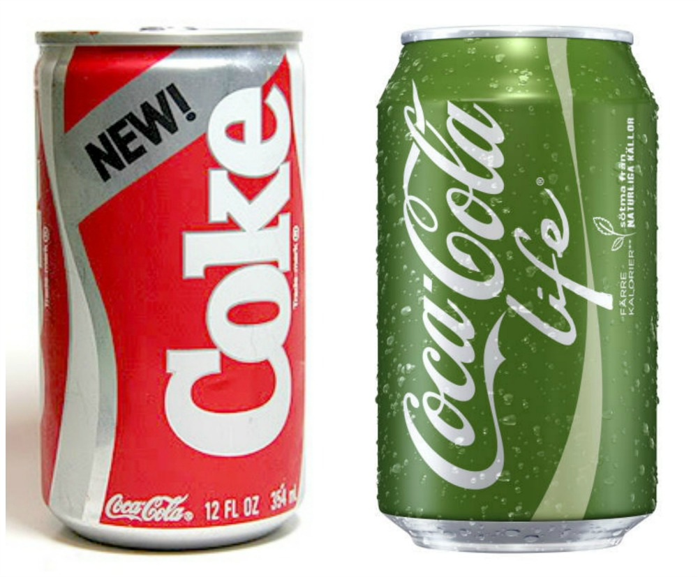 Coke in a green can