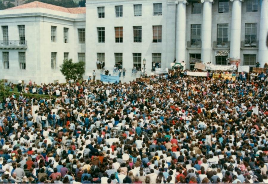 Anti Apartheid Demonstration at UC Berkeley 1985