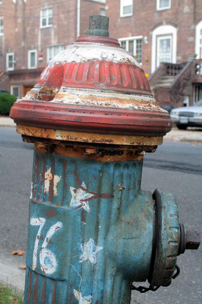 patriotic fire hydrant 1976