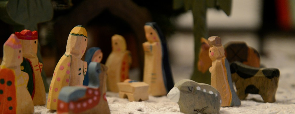 Another Merry Christmas and our painted old nativity
