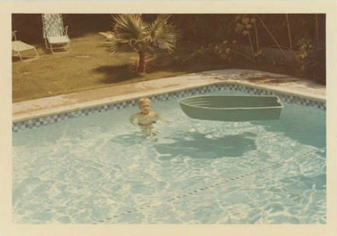 Swimming pool with a boat | September 1968
