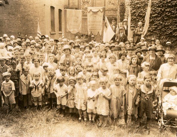 Anniversary Day Parade at John Wesley Church of the Nazarene. Brooklyn, New York, 1920