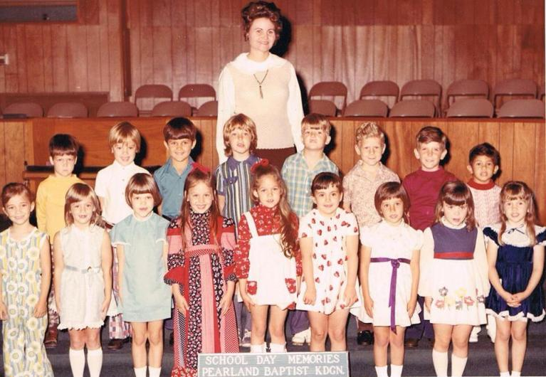 Mrs. Gifford's Sunday School Class, First Baptist Church, Pearland, 1972