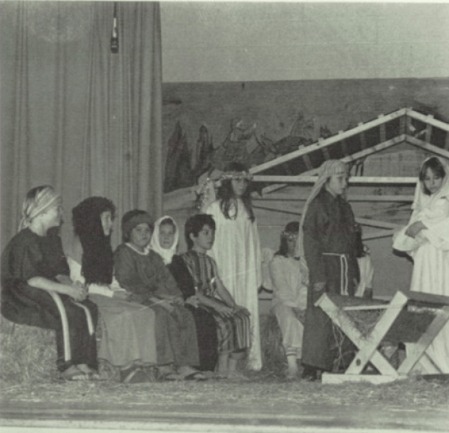 Back when public schools still had annual Christmas Nativity Scenes | Picher-Cardin High School Yearbook, 1983