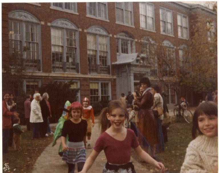 Halloween 1980 Girl dressed up like Pat Benatar