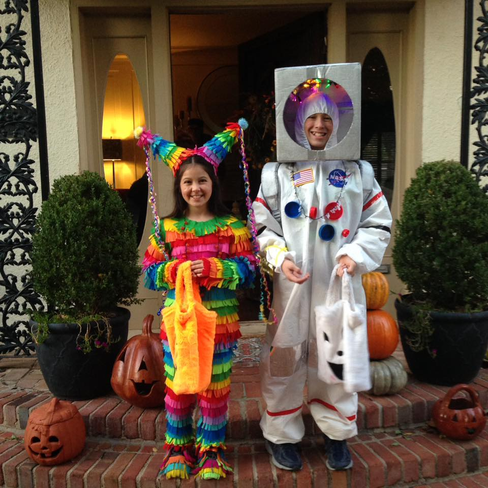 Homemade Pinata Costume and Astronaut Costume