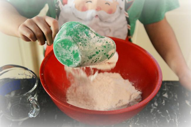 Making Christmas Cookies Flour