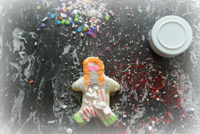 child decorated gingerbread man
