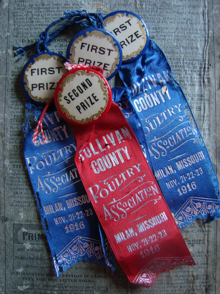 Vintage FIeld Day Ribbons