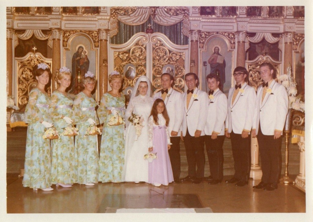 I have strong affection for these otherwise ugly bridesmaid dresses. Boomers had it going on!