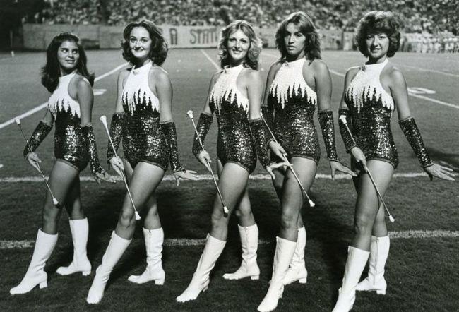 1960s college twirlers majorettes