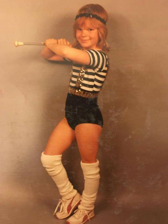 vintage baton twirling leg warmers puma