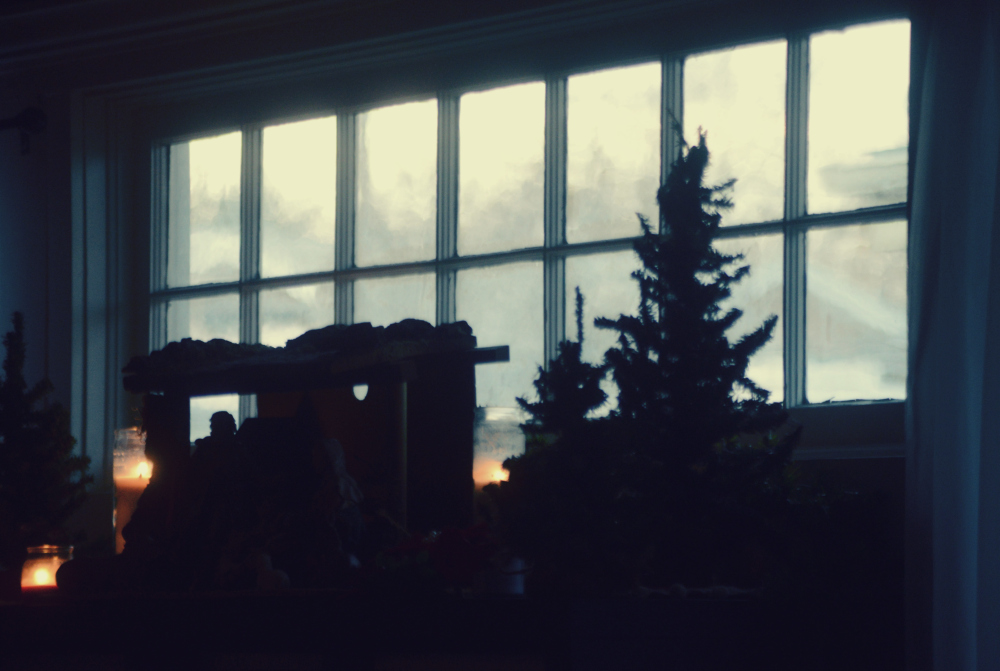 Bungalow Window at Christmastime