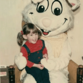 Kate with the Easter Bunny, 1981