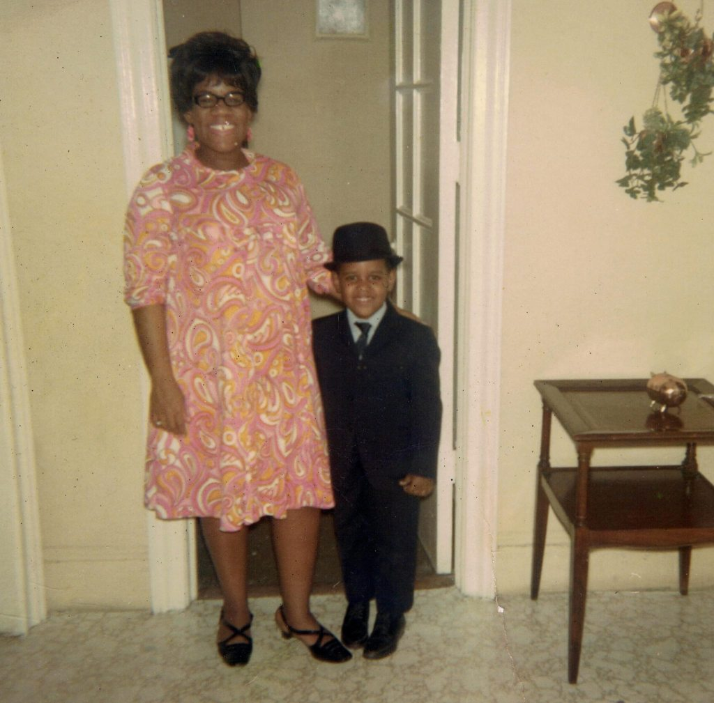 African American Mother and Son Easter 1967