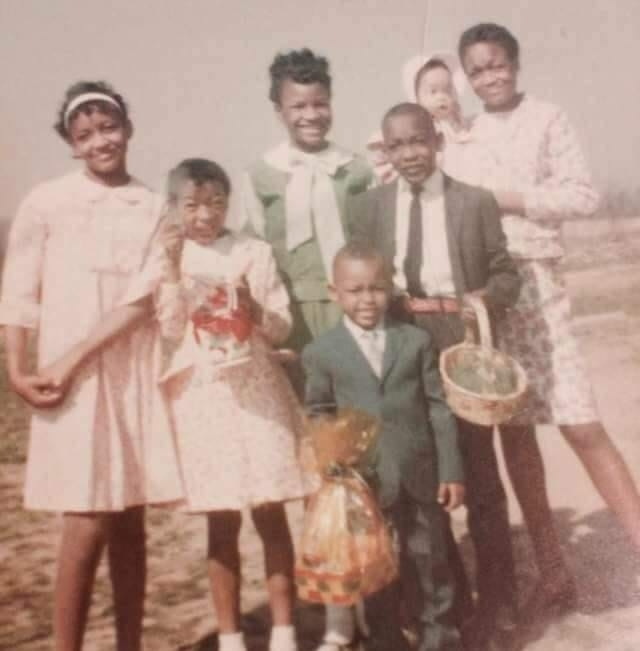 African American Mother and Children on Easter Sunday, 1967.