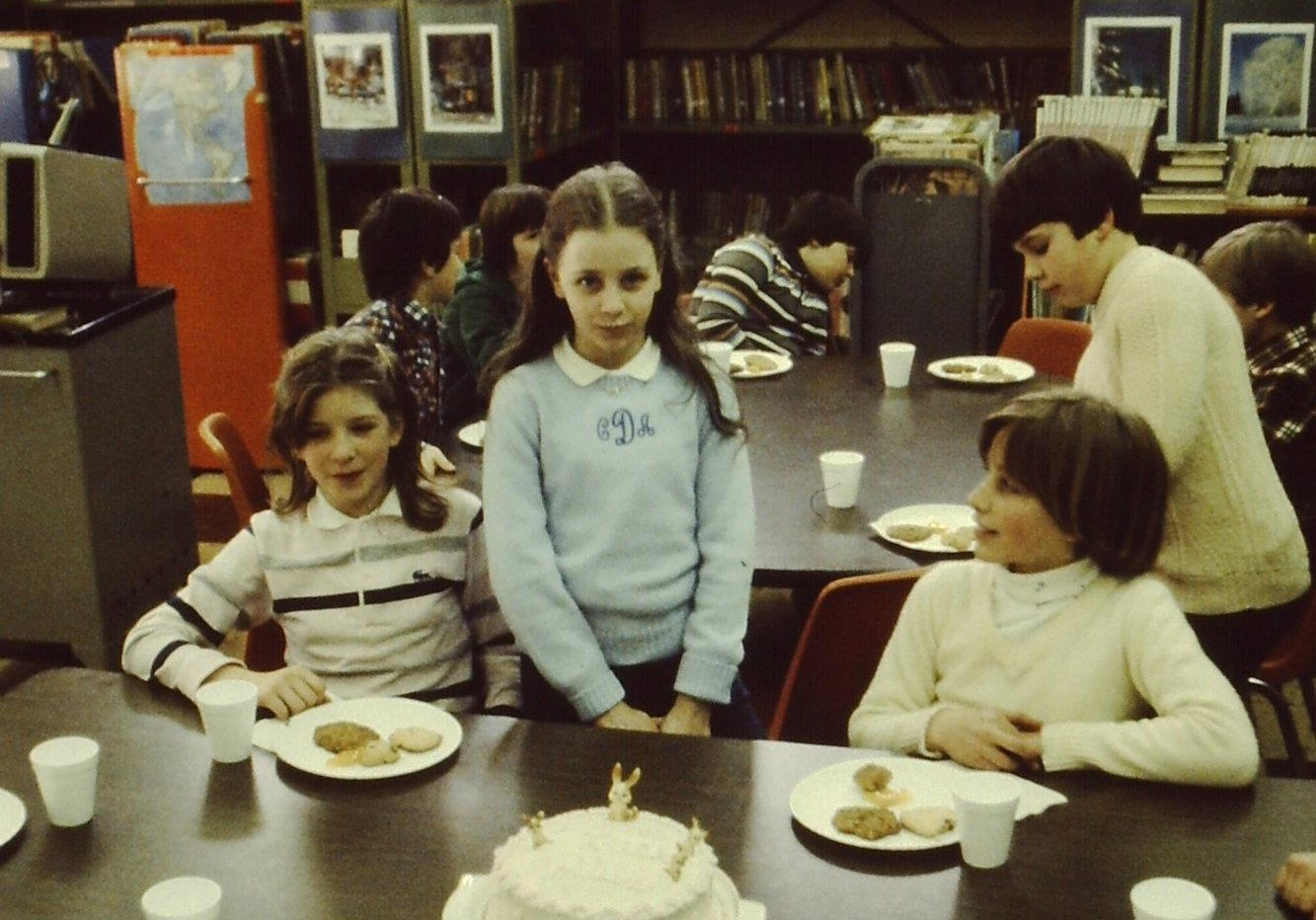 THE GIRL IN THE PREPPY MONOGRAMMED SWEATER, 1980