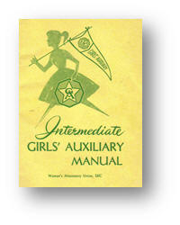 Girls Auxiliary Handbook from 1961