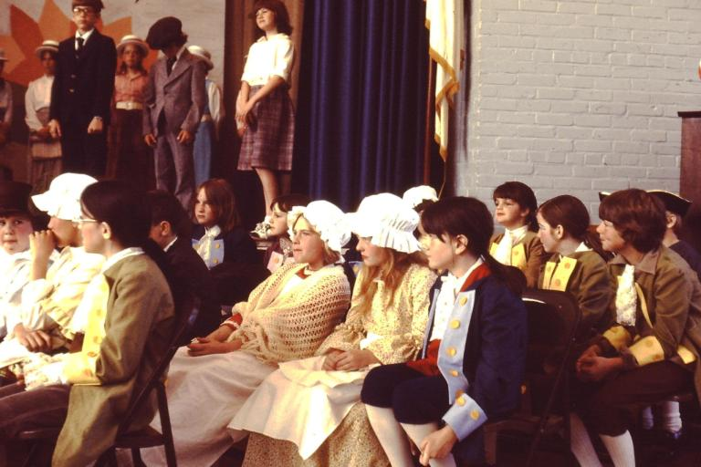 Children Dressed in Colonial Costumes Bicentennial 1976