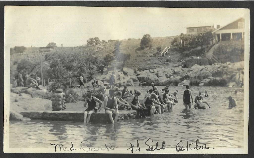 Historic Photo of Bath Lake, Medicine Park, Oklahoma near Ft. Sill Army Base